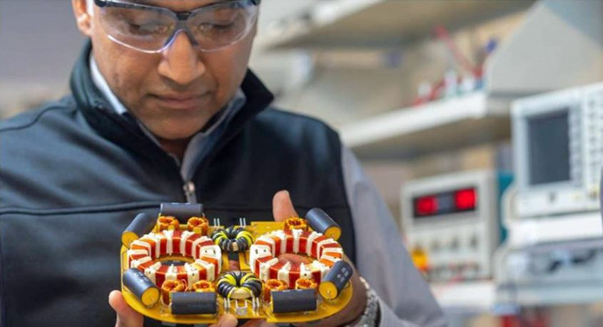 Satish Prabhakaran is shown at GE Research in Niskayuna, where he is a tech leader in hybrid electric flight research. PHOTO COURTESY GENERAL ELECTRIC