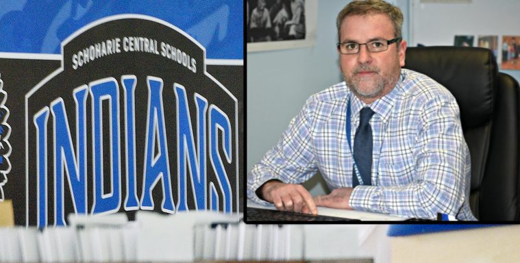 Schoharie Central School District Superintendent of Schools Dave Blanchard Friday. Credit: Stan Hudy (inset) File (Background)