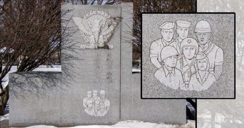 Vietnam War monument in Veteran's Park in Schenectady is pictured Saturday.