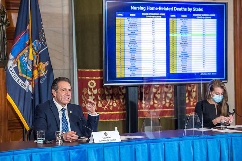 Gov. Andrew Cuomo speaks at a news conference Monday.GOVERNOR'S OFFICE