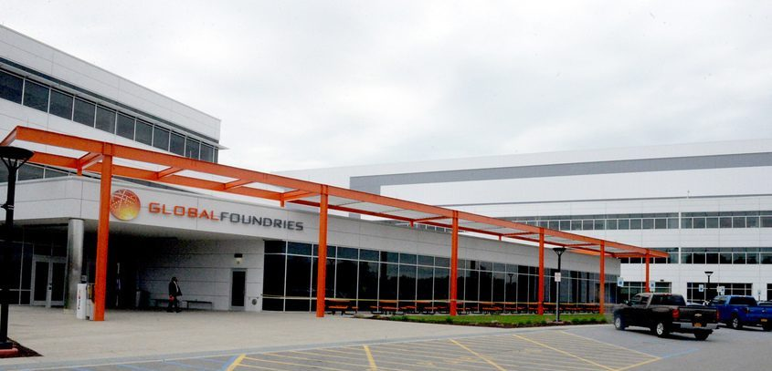 The GlobalFoundries campus is shown in 2018. File