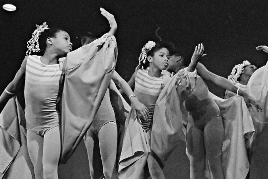 Dancers perform at a 1989 salute to Black heritage at the Empire State Plaza in Albany.