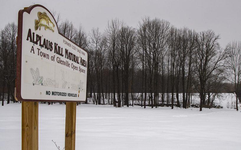 The Alplaus Kill Natural Area on Glenridge Road Tuesday