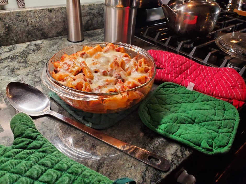 Baked ziti casserole (photo provided)