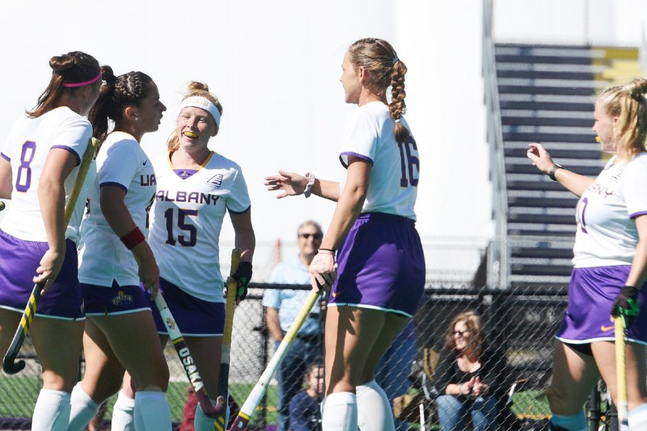 ERICA MILLER/THE DAILY GAZETTEThe UAlbany field hockey opens the spring season March 9 at Fairfield.
