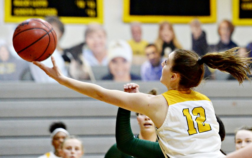 Ryley Blasetti takes a shot for Saint Rose during Tuesday's game.