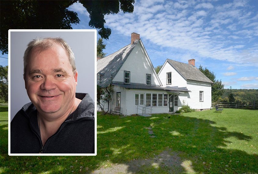 Greg Hitchcock, inset, says he plans on filming his docudrama at the Mabee Farm, pictured, and other sites in the region.