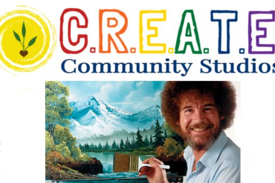 Bob Ross Bingo Paint-Along is part of CREATE-a-thon.