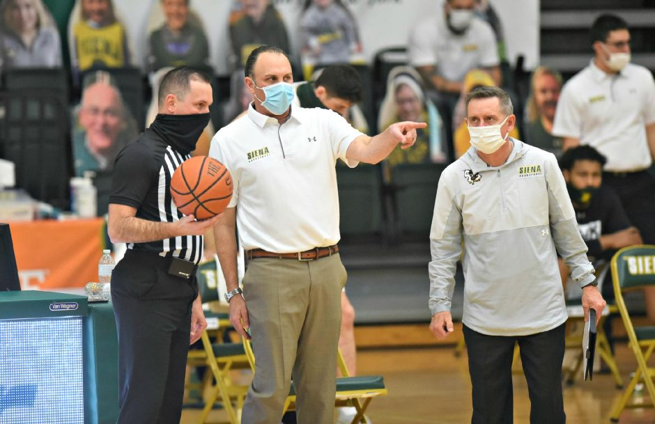 "STAN HUDY/THE DAILY GAZETTESiena men's basketball coach Carmen Maciariello, who recently tested for COVID-19, said he feels ""good"" this week."