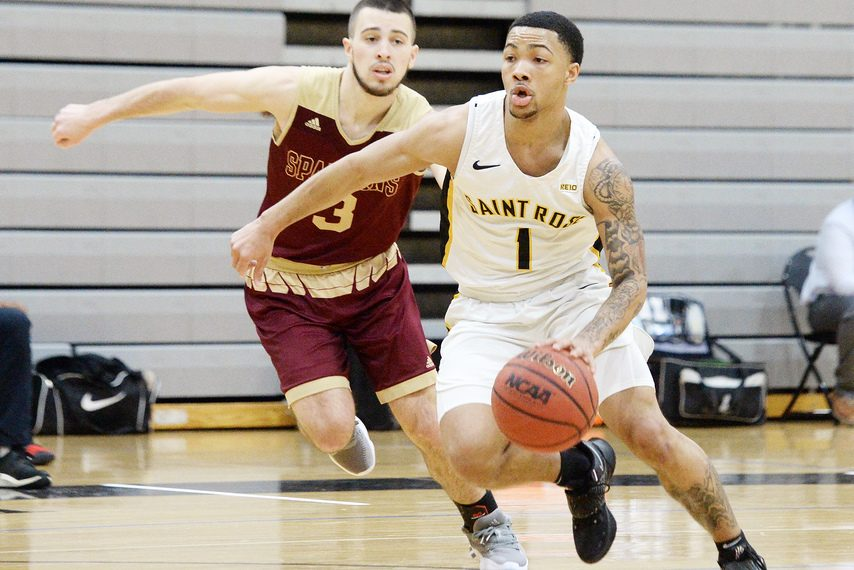 ERICA MILLER/THE DAILY GAZETTE The College of Saint Rose defeated American International 90-78 on Monday.