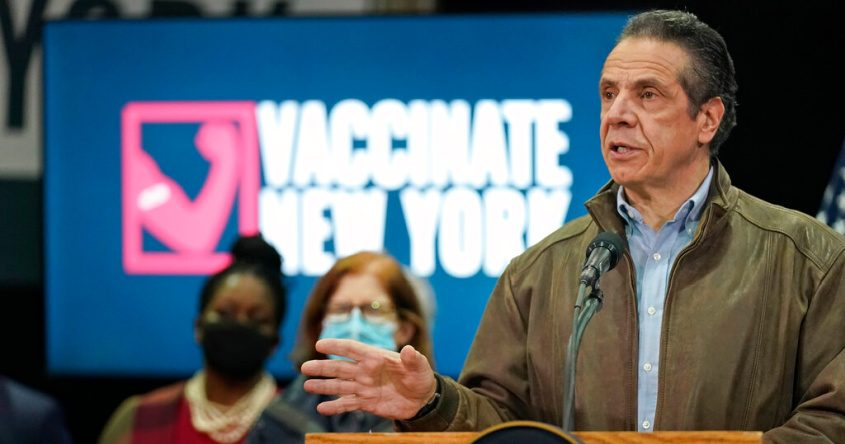 New York Gov. Andrew Cuomo speaks during a press conference Wednesday