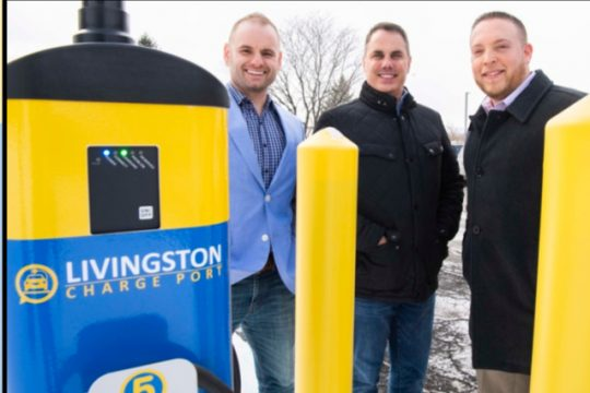 Schuyler Philip Poukish, left, Steven Coons, and Jason Zarillo of the Livingston Energy Group in Schenectady