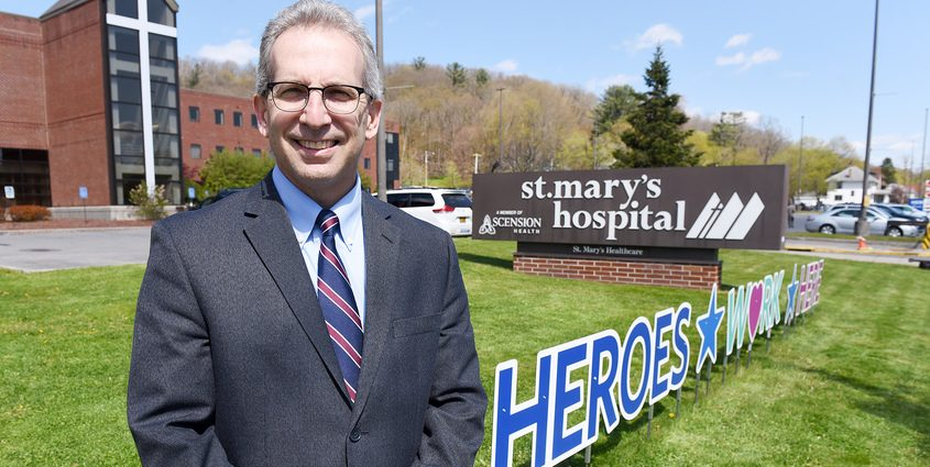 Incoming CEO of St. Mary's Hospital Scott Bruce in May
