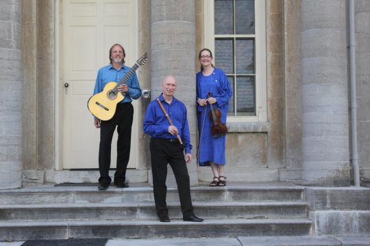 The Musicians of Ma'alwyck on the steps of Hyde Hall  in Cooperstown. (photo provided)