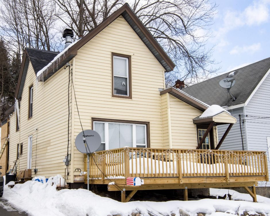 PETER R. BARBER/THE DAILY GAZETTEPipe bombs were discovered in this house at 14 MclarenSt.in Gloversville earlier this month, police say.