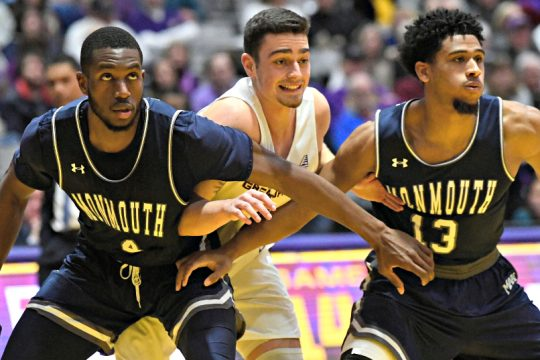 Antonio Rizzuto, center, was named a second-team all-conference selection. (Gazette file photo)