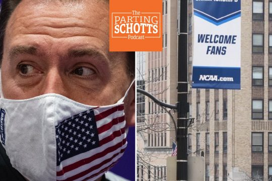 Daily Gazette file photosUAlbany men's basketball coach Will Brown discusses getting through the season during the pandemic, and NCAA men's hockey chair Mike Kemp discusses the shifting of the Northeast Regional from Manchester, N.H., to Albany on 'The Parting Schotts Podcast.'