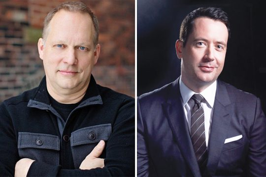 Tenor Brent Weber, left, and pianist Philip Fisher will be guest performers with the SSO. (photos provided)