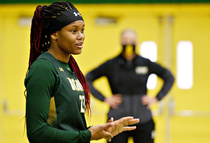 Isis Young and Siena women's basketball will play Friday at Saint Peter's. (Gazette file photo)