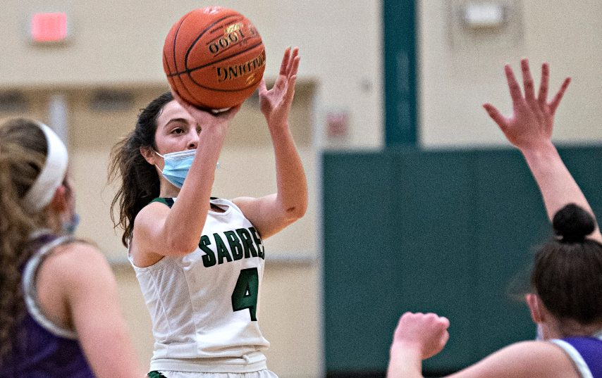 Schalmont's Payton Graber takes a shot during Thursday's game. (Peter R. Barber/The Daily Gazette)