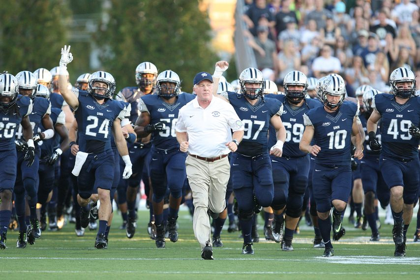 Ryan Szepan/UNH AthleticsSaratoga Springs native Sean McDonnell will open his 21st season as the head football coach at New Hampshire on March 5 against UAlbany.