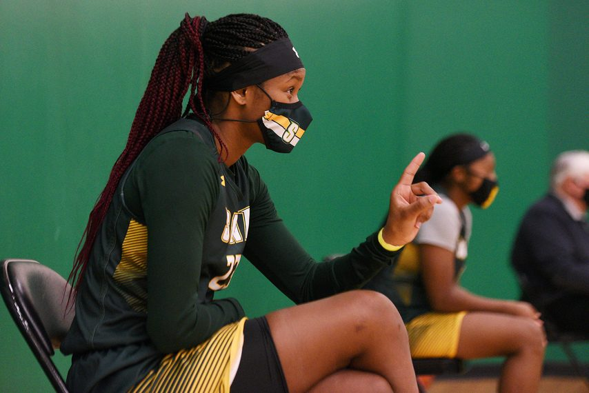 ERICA MILLER/THE DAILY GAZETTEIsis Young scored 26 points, but the Siena women's basketball team lost to Saint Peter's on Friday afternoon.