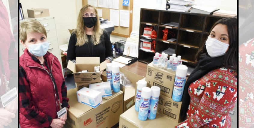 From left,Jean Sweetman, Michele Lasher andSara Boerenko are shown at the Montgomery County Public Health Department Dec. 23