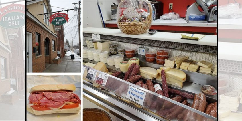 Pictured are imported meats and cheeses and an Italian sub at La Gioia Italian Deli on Van Vranken Avenue in Schenectady. (Caroline Lee/For The Daily Gazette)