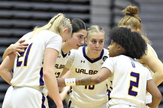 UAlbany women's basketball will play Maine next weekend. (Kathleen Helman/UAlbany Athletics)