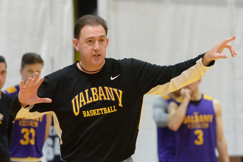 GAZETTE FILE PHOTOWill Brown is out as head coach of the UAlbany men's basketball team.