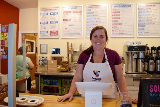Sara Mae Pratt, owner of Puzzles Bakery & Cafe in Schenectady, in 2016 - File