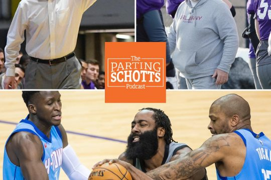 "Will Brown, UAlbany football and the NBA are the topics on the latest edition of ""The Parting Schotts Podcast."""