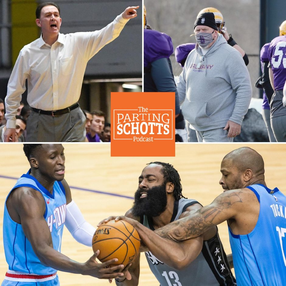 """Will Brown, UAlbany football and the NBA are the topics on the latest edition of """"The Parting Schotts Podcast."""""""