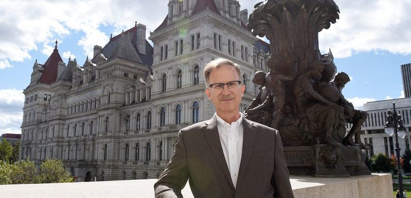 Bill Hammond of the Empire Center for Public Policy is shown outside the state Capitol in October.