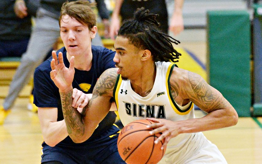 Siena's Manny Camper starred on his senior night. (Erica Miller/The Daily Gazette)
