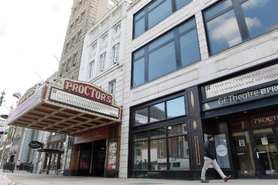 Proctors in Schenectady, pictured on Feb. 25, plans to wait to re-open.
