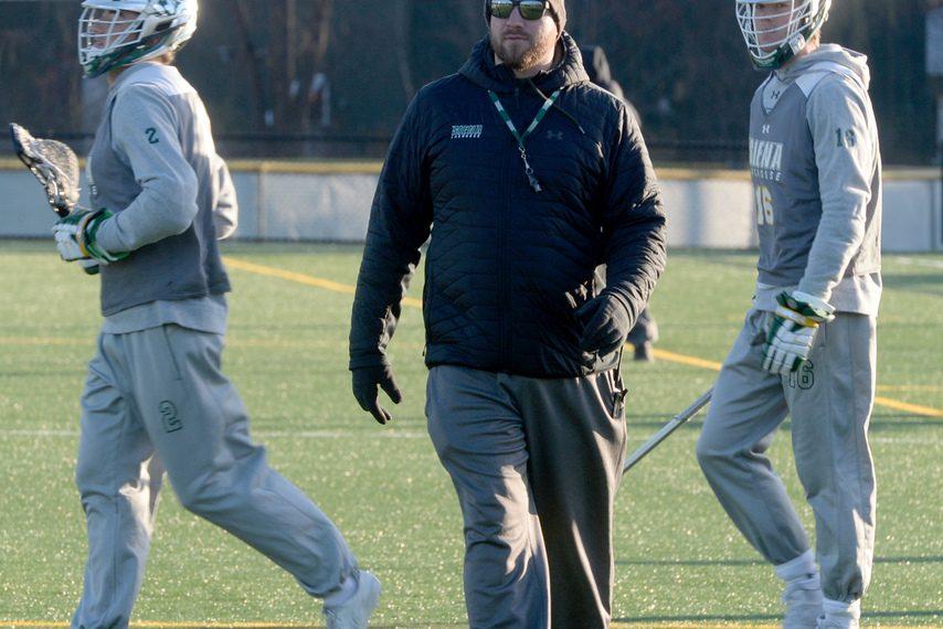 GAZETTEFILE PHOTOHead coach Liam Gleason's Siena men's lacrosse team fell to Canisius 8-7 on Saturday.