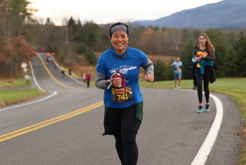 PHOTO PROVIDED Runners head up a hill during the Upstate Classic in Guilderland on Nov. 15.
