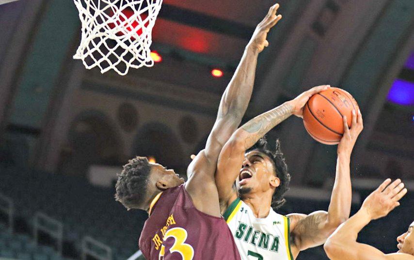 Siena fell 55-52 Wednesday night. (Anthony Sorbellini/MAAC Sports)