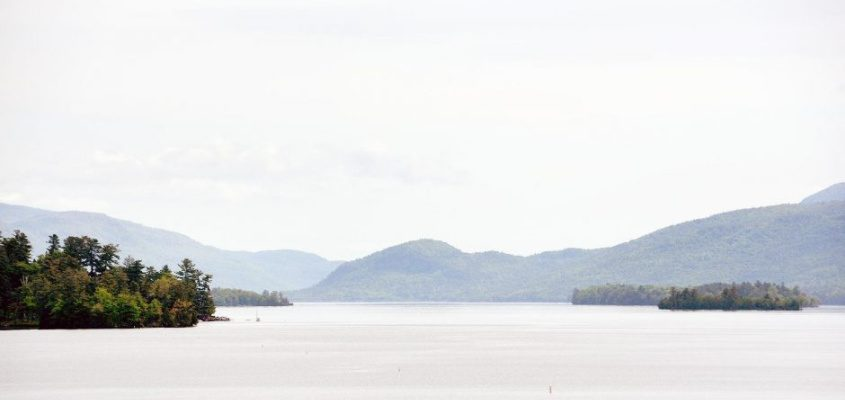 Lake George from the second story of Fort William Henry in Lake George on May 30, 2019.