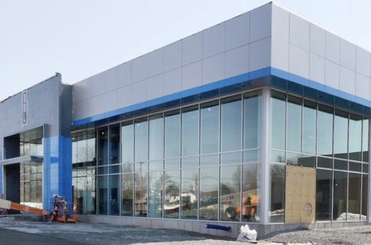 Construction continues at the new Mohawk Chevrolet on State Farm Boulevard off Route 67 in Malta on Wednesday.