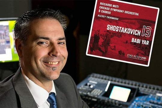 Charlie Postreceived his first Grammy nomination -- and first Grammy Award --for his work as sound engineer on Chicago Symphony Orchestra's 2019 recording of Shostakovich's Symphony No. 13. (Courtesy CSO)