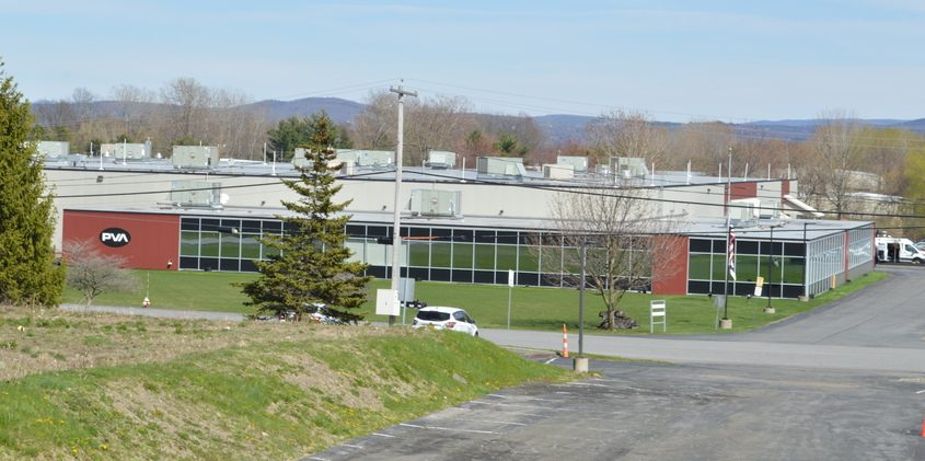 Precision Valve & Automation's north Colonie factory is shown in April 2020.