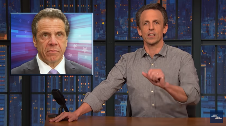 Seth Meyers during the early Tuesday segment