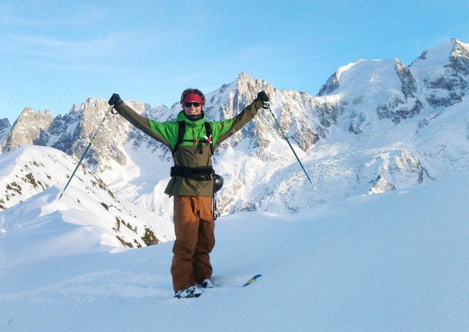 MikeRogge, shown here inChamonix, France, is the owner of the Mountain Gazette. Rogge is a Queensbury graduate.