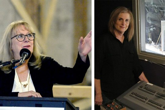 Left: Maggie Mancinelli-Cahill of Capital Repertory Theatre. Right: Carol Max of Curtain Call Theatre. (Gazette file photos)