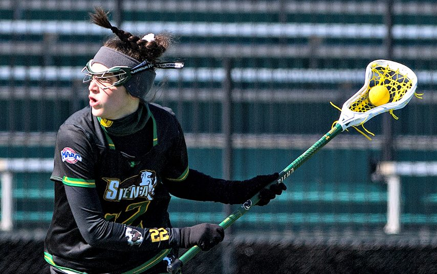 Siena's Mary Soures is shown during a game earlier this season. (Photo courtesy Siena Athletics)