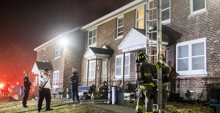 Schenectady firefighters rescued a woman from her Lincoln Heights apartment after heavy smoke was reported shortly after 9 p.m. Sunday