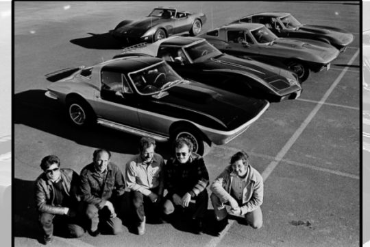 Capital Region Corvette owners lined up their classic cars in April 1977, prepping for a spring Corvette show. From left are Chris Paticopolus of Loudonville; Bob Bucci of East Greenbush; Lou Spada of Castleton; Ed McGowan of Mechanicville and Bob Place of East Nassau.
