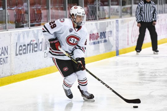 Freshman forward Veeti Miettinen is St. Cloud State's leading scorer with 10 goals, including a team-best five power-play tallies, and 13 assists.